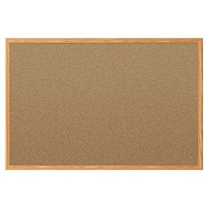 Mead Classic Cork Bulletin Board - 3 X 2 - Oak Finish Frame