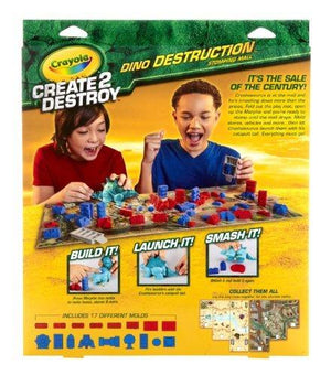 Crayola Create 2 Destroy Dino Destruction Stomping Mall