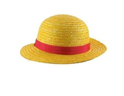 China Tanboo One Piece Anime Monkey D. Luffy Straw Hat Cap Cosplay - Yellow