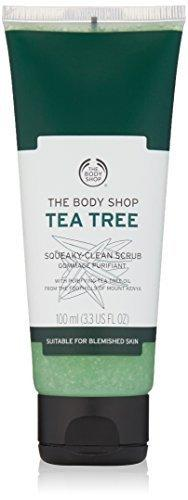 The Body Shop Tea Tree Squeaky Clean Scrub Daily Facial Scrub 3.3 Oz