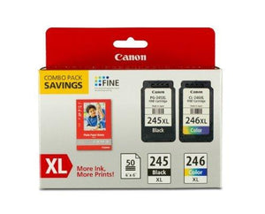 Canon Pg-245Xl/Cl-246Xl Ink And Photo Paper Glossy Combo Pack Compatible To Mx492 Mg3020