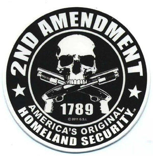 GSI Motorcycle Helmet Sticker - 2Nd Amendment America'S Original Homeland Security