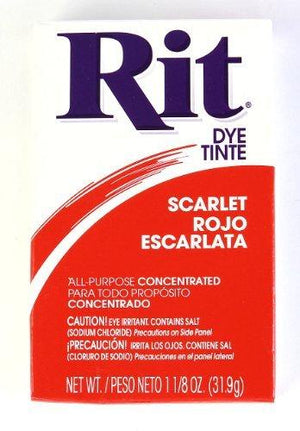 Rit Dye Powder Dye, 1-1/8 Oz, Scarlet Red, 3-Pack