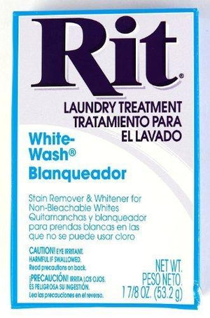 Rit Dye Laundry Treatment White-Wash Stain Remover And Whitener Powder, 1-7/8 Oz, White, 3-Pack