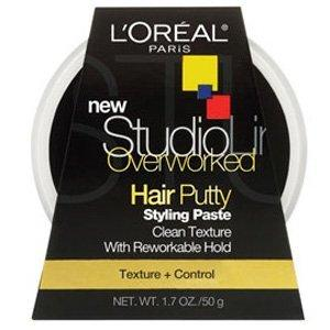 L'Oreal Paris Studio Line Texture And Control Overworked Hair Putty 1.7 Oz (2 Pack)