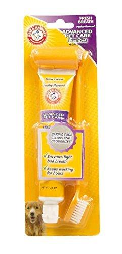 Arm & Hammer Fresh Breath And Whitening Toothpaste Toothbrush And Finger Toothbrush Set For Dogs