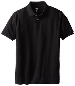 Lee Uniforms Modern Fit Short Sleeve Polo Shirt - Black - 4X