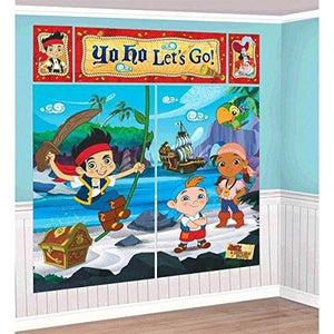 Amscan Jake & The Neverland Pirates Giant Scene Setter Wall Decorating Kit Birthday Party