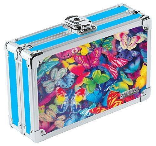 Vaultz 3D Lenticular Locking Pencil Box, 5.5 X 8.25 X 2.5 Inches, Butterflies (Vz00291)