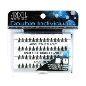 Ardell Professional Double Individuals Knot-Free Double Flares - Short Black (3 Pack)