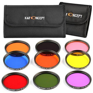 K&F Concept 58Mm 9Pcs Lens Accessory Filter Kit For Canon Dslr Cameras