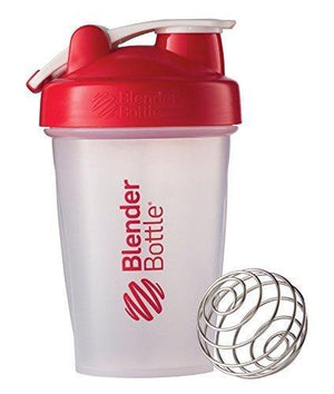 Blenderbottle Classic Loop Top Shaker Bottle Clear/Red 20-Oz