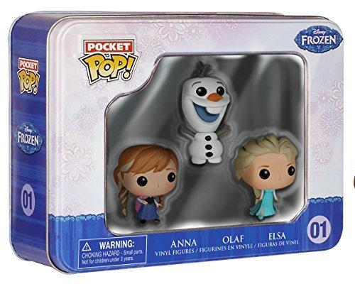 Funko Frozen Pocket Pop! Mini Vinyl Figure Tin Featuring Elsa, Anna, And Olaf