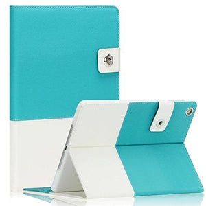 Saveicon Built-In Stand Pu Leather Folio Case For Apple Ipad Air 2, 6Th Generation (Blue)
