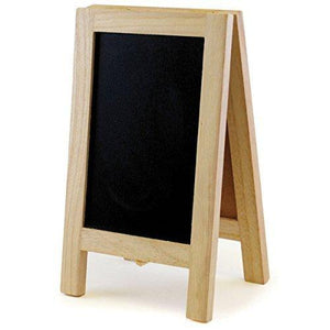 Multicraft Chalkboard/Cork Easel, 4.375-Inch By 7.375-Inch
