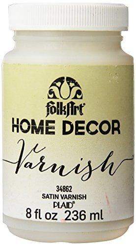 Folkart Home Decor Varnish (8-Ounce), 3482 Satin
