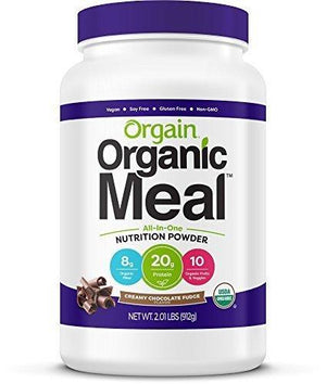 Orgain Organic Plant Based Meal Powder, Creamy Chocolate Fudge, 2.01 Pound, Packaging May Vary