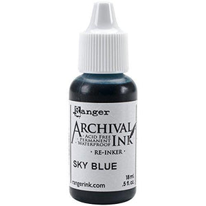 Ranger Wendy Vecchi Designer Series Archival Re-Inkers, 0.5 Oz, Sky Blue