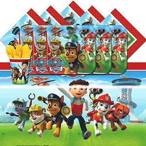 Amscan Paw Patrol Children Birthday Complete Party Tableware - 16 Pack