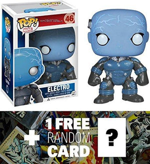 Electro (Glow-In-Dark): Funko Pop! X The Amazing Spider-Man Vinyl Bobble-Head Figure + 1 Free Official Marvel Trading Card