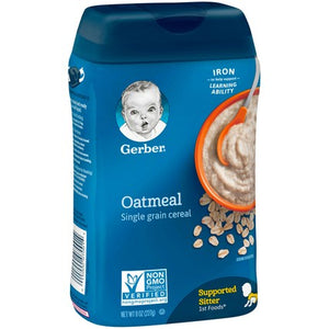 Gerber Single Grain Oatmeal Cereal 8 oz Pack of 4