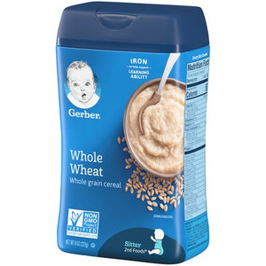 Gerber Whole Wheat Cereal 8 oz Pack of 4