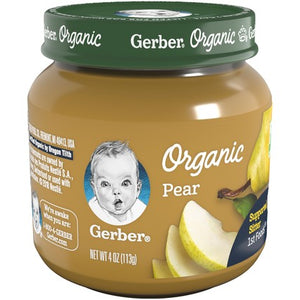 Gerber Organic 1st Foods Pear 4 Oz Pack of 4