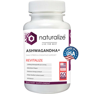 Naturalize Ashwagandha + Daily Stress & Cognitive Support 60 Capsules