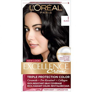 L'Oreal Paris Excellence Creme Hair Color, 1 Black