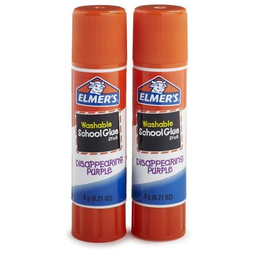 Elmer'S Disappearing Purple School Glue Sticks 0.21 Oz - Pack Of 2