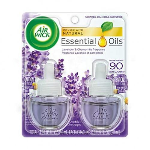 Air Wick Air Wick Scented Oil 2 Refills, Lavender & Chamomile, (2X0.67Oz), Air Freshener