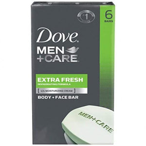 Dove Men+Care Body And Face Bar, Extra Fresh 4 Oz, 6 Bar