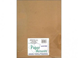 Accent Design Paper Accents Adptx8511-25.357 Lite Stock 8.5X11 Rec Brown Bag Cardstock
