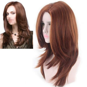 Righton 22 Inches Exquisite Sexy Long Wavy Wig With Free Wig Cap (Natural Brown)