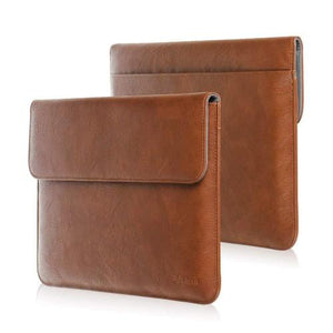 Fintie Laptop Sleeve - Premium Pu Leather Carrying Case Brown