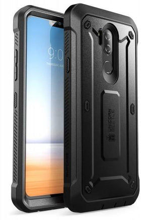 Supcase Full-Body Rugged Holster Case With Built-In Screen Protector For Lg G7 2018 Release, (Black)