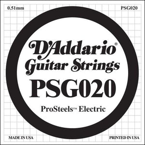 D'Addario Psg020 Prosteels Electric Guitar Single String.020