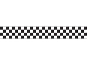 Creative Converting (071581) Black And White Check Crepe Paper Streamer, 30