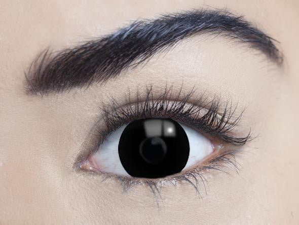 Mini Sclera Black 17mm Contact Lenses
