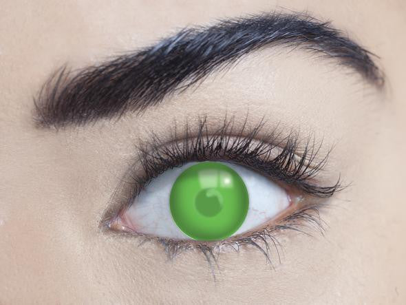 1 Day, 3 Month - Blind Green Contact Lenses