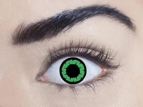 1 Day, 1 Month - Green Temptress Contact Lenses