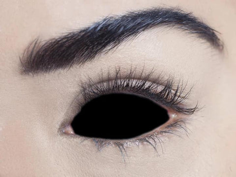 1 Year - Black Sclera Full Eye 22mm Contact Lenses
