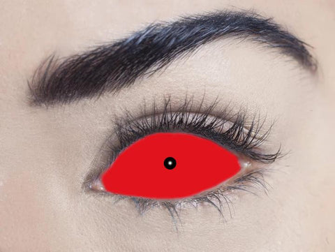 1 Year - Red Sclera Full Eye 22mm Contact Lenses