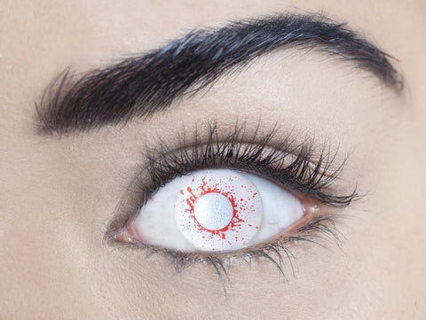 1 Day, 1 Month - Blind Bloodshot Drops Contact Lenses