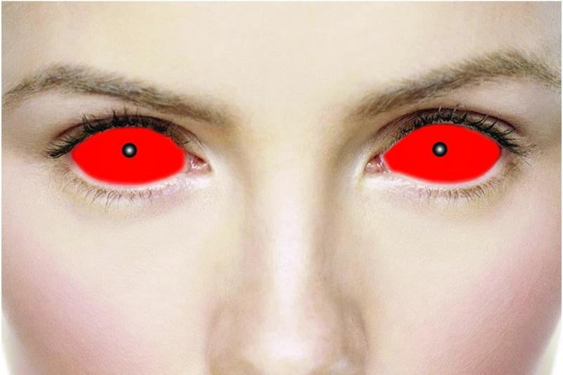 Red Sclera Full Eye 22mm Contact Lenses