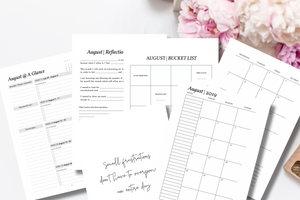 Mindful Productivity Planner: 2019 Goal Getter Edition {PRINTABLE PDF LETTER SIZE}