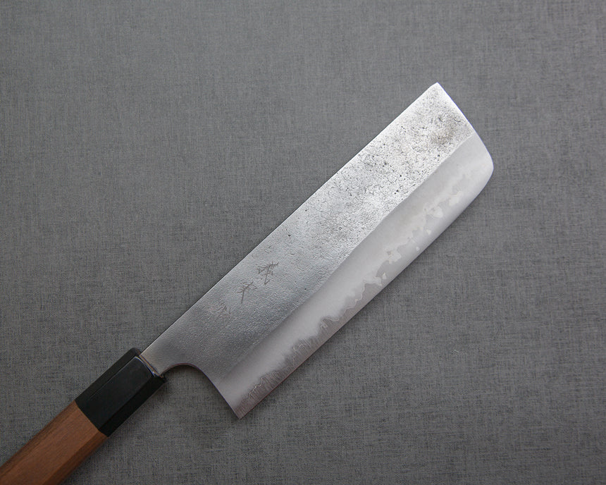 Yoshimi Kato Aogami Super Nashiji 165mm Nakiri with Walnut / Buffalo Horn Handle