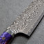 Yoshimi Kato R2/SG2 Black Damascus 210mm Kiritsuke Gyuto with Polished Galaxy Acrylic Handle