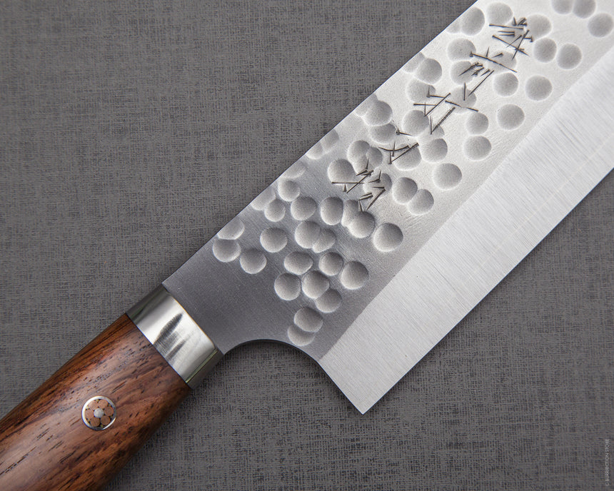 Yoshimi Kato R2/SG2 Tsuchime Gyuto with Cherry Wood Handle