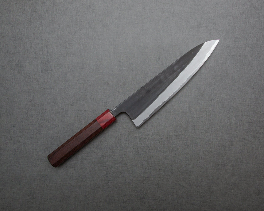 Kaishin Shirogami #2 Kurouchi 210mm Gyuto with Rosewood Handle